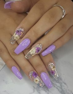 spring nails acrylic 28 Casual Acrylic Nail Art Designs Ideas To Fascinate Your Admirers : Page 2 of Purple Acrylic Nails, Best Acrylic Nails, Cute Acrylic Nails, Cute Nails, Gel Nails, Acrylic Art, Manicure, Acrylic Spring Nails, Purple Nail Art
