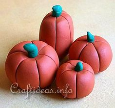 Fall Craft - Polymer Clay Pumpkins Craft Project