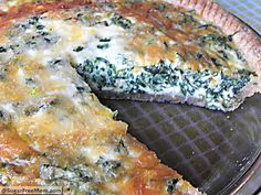 Healthy Italian Spincah Pie- Loved this recipe, I always add shredded/ cubed chicken mixed into the spinach