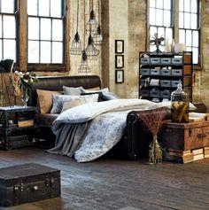 Dormitorios en estilo industrial