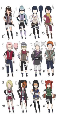 Naruto Adoptables II by MayaNara on DeviantArt