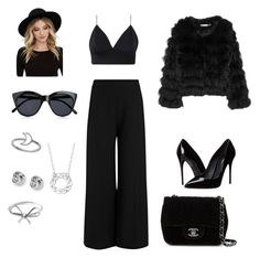 """""""Gala, Black Look N*1"""" by mathis-weks on Polyvore featuring mode, Alice + Olivia, Dolce&Gabbana, Joseph, Chanel, RHYTHM, Le Specs, Blue Nile et FOSSIL"""