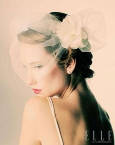 Weddbook is a content discovery engine mostly specialized on wedding concept. You can collect images, videos or articles you discovered  organize them, add your own ideas to your collections and share with other people - Weddbook ♥ mini veil or a hair accessory with tulle flower detail
