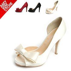 Amykim NEW Womens Shoes BOW open toe heels Heel wedding SHOES party style | eBay