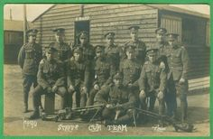 Staffordshire-Yeomanry-Hotchkiss-Machine-Gun-Photo-Postcard-RPPC