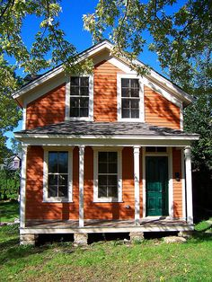 Color Of Houses orange houses - exterior house colors | orange house, exterior