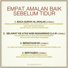 Amalan sebelum bobo Y Hijrah Islam, Doa Islam, Reminder Quotes, Self Reminder, Quran Quotes Inspirational, Motivational Quotes, Islamic Messages, Islamic Qoutes, Islamic Teachings