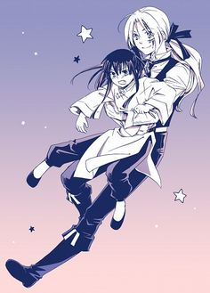 Tags: Anime, Carry, Little Boy, D.Gray-man, Allen Walker, Yuu Kanda, Chinese Clothes