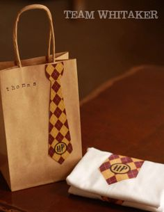 1 Harry Potter Tie Gryffindor Red and Gold by ChickadeeDigital, $3.00