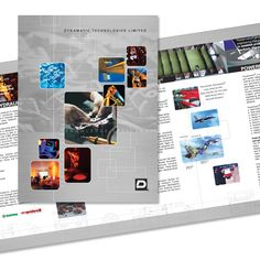 Brochure design Client: Dynamatic Technologies Work done: Concept & Execution - Design, photo manipulation, layout Softwares: Adobe Illustrator, Photoshop