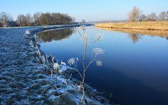 Winterse wandeling langs de Dommel, Noord Brabant, Nederland.
