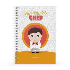 Cuaderno XL - Las notas del chef, encuentra este producto en nuestra tienda online y personalízalo con un nombre. Notebook, Cover, Notebooks, Report Cards, Store, The Notebook, Exercise Book