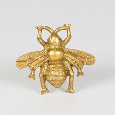 Golden Bumble Bee Vintage door knob by Vintagebellecandles on Etsy