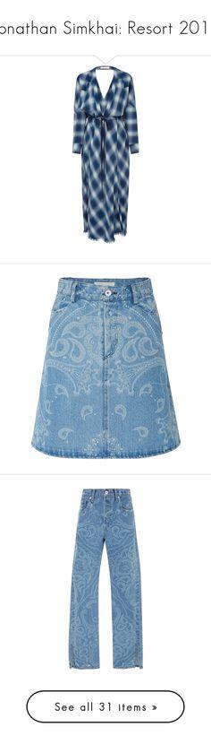 """Jonathan Simkhai: Resort 2018"" by livnd ❤ liked on Polyvore featuring jonathansimkhai, livndfashion, livndjonathansimkhai, resort2018, dresses, blue, cinch dress, jonathan simkhai dress, tartan plaid dresses and blue plaid dress"