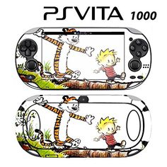 Decorative Video Game Skin Decal Cover Sticker for Sony PlayStation PS Vita PCH1000  Calvin and Hobbes Comic Tiger * Want additional info? Click on the image.