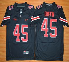 Youth Ohio State Buckeyes Archie Griffin 45 NCAA Football Jersey - Blackout