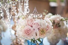 Feminine, sweet and elegant just like Cinderella! Learn how to decorate you Cinderella themed Quince here: http://www.quinceanera.com/decorations-themes/cinderella-theme-quince/?utm_source=pinterest&utm_medium=article&utm_campaign=123114-cinderella-theme-quince