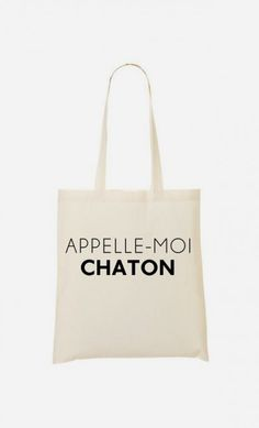 Tote Bag Appelle-Moi Chaton