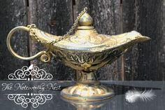 Aladdin Lamp // Genie // Genie Lamp // Gold lamp // beach decor // genie lantern // mermaid // beach theme