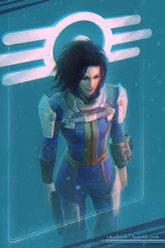 Everything Fallout — shalizeh7:   Blue    Beautiful art by Shalizeh, as...