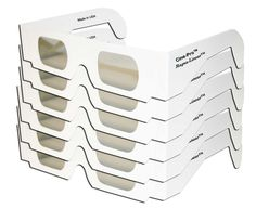 Cine-Pro(TM) Brand - Magna-Linear(TM) POLARIZED 3D Glasses Cardboard White Frame - 3D Projector Presentations - FOLDED & SLEEVED - 6 PAIRS. White cardboard frames with temples for a low-cost solution of your LINEAR polarized glasses needs. Linear Polarized Glasses are the general purpose glasses used for polarized projection of slide shows, multi-media displays, concerts, movies, simulator rides, and viewing polarized prints and vectographs (StereoJet prints) - Polarized glasses contain...