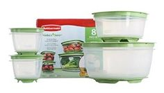 Amazon.com: Rubbermaid 7J93 Produce Saver Square Food Storage Containers Set of 8: Veggie Saver: Kitchen & Dining