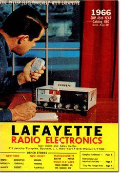 picture of 1966 Lafayette Radio catalog Retro Advertising, Vintage Advertisements, Vintage Ads, Citizens Band Radio, Radios, Citizen Band, Ham Radio Antenna, Radio Wave, Short Waves