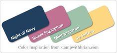 Stampin' Up! Color Inspiration: Night of Navy, Sweet Sugarplum, Mint Macaron, So…