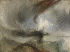 """Joseph Mallord William Turner, """"Snow Storm: Steam-Boat off a Harbour's Mouth"""""""