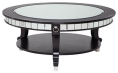 decorating with a round mirrored coffee table - Google Search