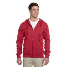 Men's Big and Tall 50/50 Nublend Fleece True Full-Zip Hood
