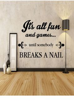 It's All Fun & Games - Nail Technician - Salon - Home Decor - Gift Idea - Living Room - Bedroom - Office - Dorm - High Quality Vinyl Graphic by EmmaEmbellishments on Etsy