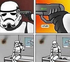 Cops Humor, Gamer Humor, Star Wars Jokes, A Hat In Time, Bad Memes, The Force Is Strong, Funny Games, Star Wars Art, Funny Comics