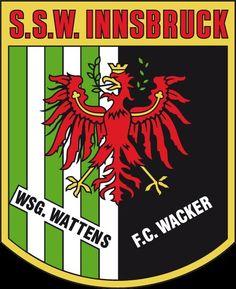 SSW Innsbruck of Austria crest. Innsbruck, Sports Clubs, Sports Logos, Austria, Football Team Logos, Team Mascots, Great Logos, Crests, Badge