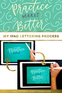 Simple but thorough iPad Lettering process tutorial, great for beginners: https://every-tuesday.com/ipad-lettering-process