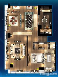 Floor Plan Friday: 4 bedroom home with study nook and tripl Restaurant Floor Plan, Restaurant Design, Hotel Room Design, Interior Design Living Room, Home Design Plans, Plan Design, Dream House Plans, House Floor Plans, Planer Layout