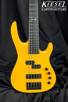 Kiesel Guitars Carvin Guitars 17 hrs ·  Happy Sunday everyone! Check out this beautiful X54 Xccelerator bass in McLaren yellow!