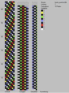 Schlauchketten häkeln - Musterbibliothek: bunte_punkte