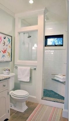doorless shower modern farmhouse cottage chic love this shower for a small bathroom -Home DecorClick to check a cool blog!