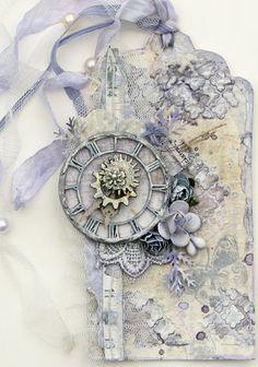 Roman Clock Tag by Joycekers