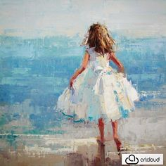 Just in 5 new #barbaraflowers paintings. Go to our website and enjoy them all!! Bring your room to life with this #originalart.Wouldn't you love to have this fresh #figurative gem in your home... It will give you a mini vacation at the seashore. #impressionism #interiordesign #originalart
