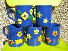 fimo Ceramics, Mugs, Glasses, Tableware, Handmade, Fimo, Ceramica, Eyewear, Pottery