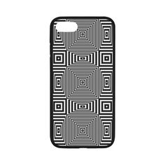 """Flickering geometric optical illusion Rubber Case for iPhone 7 4.7"""" by Natalia Bykova on Artsadd. #Artsadd, #opticalillusion, #geometric, #blackwhite, #blackandwhite, #geometricpattern, #iphonecase, #iphone7case, #rubbercase"""