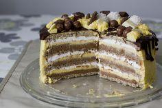 Bite my cake: Lješnjak torta Cake Filling Recipes, Easy Cake Recipes, Cupcake Recipes, Sweet Recipes, Baking Recipes, Cupcake Cakes, Dessert Recipes, Desserts, Cupcakes