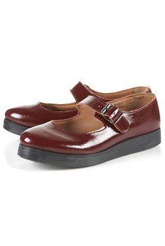 MARGE Bordeaux Mary Jane Shoes