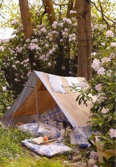花がらで統一・・・キャンプ。