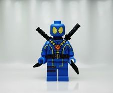 MC203 Lego CUSTOM PRINTED X Force X Men INSPIRED BLUE DEADPOOL MINIFIG Superhero