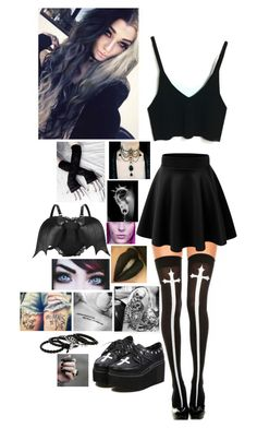 """#Goth"" by kylaamador ❤ liked on Polyvore"