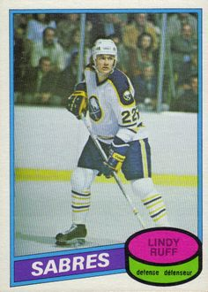 Lindy Ruff: 1980-81 O-Pee-Chee Rookie Card Hockey Cards, Baseball Cards, Nhl Season, Buffalo Sabres, National Hockey League, Athletes