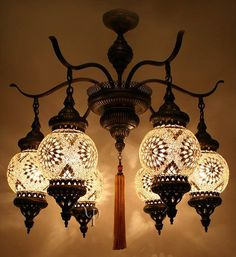 beautiful chandelier with tassel